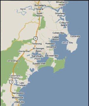 shoalhaven map